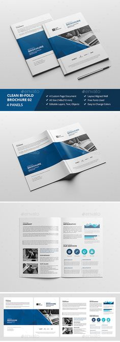 451 Best Bi Fold Brochure Designs Images On Pinterest Brochures