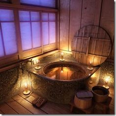 woodsy spa bath ~ this will go perfect in my hobbit house :)