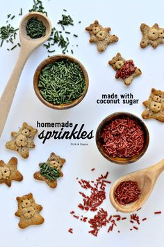 Easy to Make Sprinkles made with coconut sugar. Super simple and a healthier option!