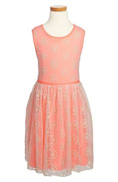 Zunie Embroidered Sleeveless Dress (Little Girls & Big Girls) available at #Nordstrom