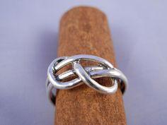 Infinity+Knot+Silver+Rings++R1077++ElenadE+by+ElenadE+on+Etsy,+$40.00