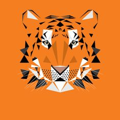 #T is for #Tiger by Mat Mabe, via Etsy.