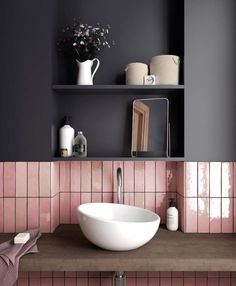 We love the EQ Artisan collection. Available in 10 glorious colours. #pinkalltheway #architecture #design #interiors #interiordesign #homeinteriors #home #ceramics #porcelain #walltiles #floortiles #walltiling #makeastatement #unusual #ihaveathingwithtiles #tilesitswhatwedo #space #bathrooms #bedroomdesign #pink #splashbacks