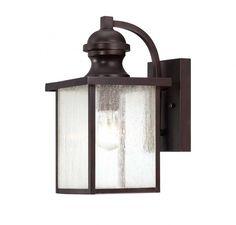 English Bronze Wall Lantern