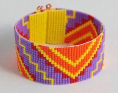 Perle en ZigZag Aztec métier à tisser Bracelet par PuebloAndCo