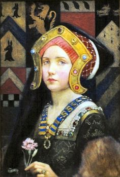 Busta una joven Tudor Eleanor Fortescue-Brickdale (1872-1945)  Publicado por Arte XIX