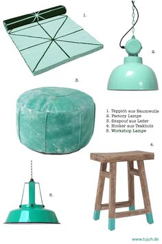 tujuh Style mint green