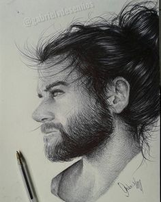 Black and White Realistic Ballpoint Pen Drawings. By Gabriel Vinícius.