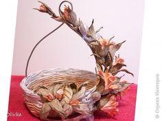 Декор предметов Мастер-класс Флористика Бумагопластика Плетение Ветвь из цветов Мастер класс по изготовлению Бумага фото 1