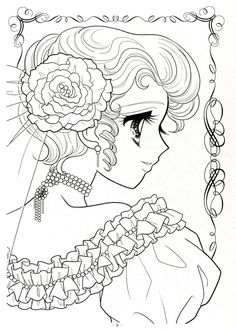 Japanese Shoujo Coloring Book 08 Аниме девушки Sketch Coloring Page Cute Coloring Pages, Printable Adult Coloring Pages, Coloring Pages For Girls, Digital Stamps Free, Vintage Coloring Books, Japanese Colors, Anime Princess, Princess Coloring, Colorful Drawings