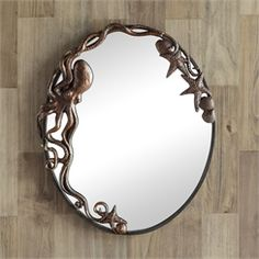 Octopus Oval Wall Mirror