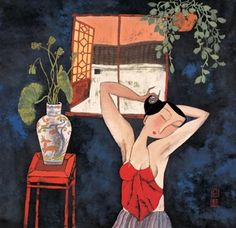 Hu Yongkai (Chinese, born 1945) 'Flower Window'