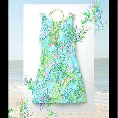 511d18590a3b06 Lilly Pulitzer Shift Dress Blue Heavenly Size 12 Lilly Pulitzer, Heavenly,  Blue Dresses,
