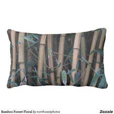 Bamboo Forest Floral Lumbar Pillow