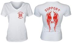 861 Support 81 World Damen Lady T-Shirt Hells Angels Größe XS - XL ...