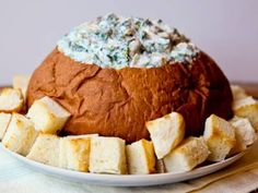 This easy dip in a bread bowl is sure to be a crowd pleaser at your next tailgate party!