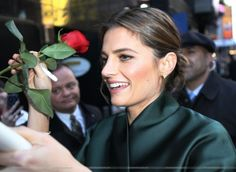 """#StanaKatic talks to her fans when leaving """"Good Morning America"""" (2014)"""