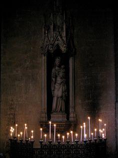 candlelit shrine