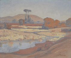View Landscape with Jukskei river by Jacob Hendrik Pierneef on artnet. Browse upcoming and past auction lots by Jacob Hendrik Pierneef. South Africa Art, African Paintings, Art For Art Sake, Painting Inspiration, Oil On Canvas, Past, Colours, Watercolor, River