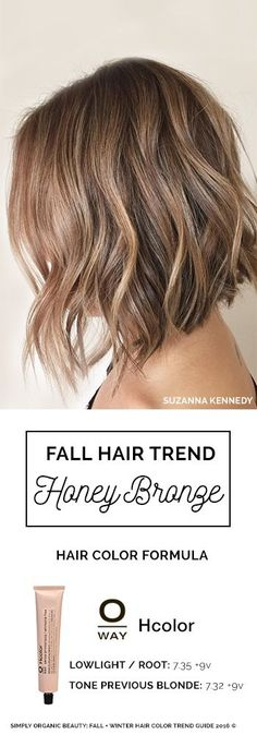 Hello, Honey Bronze Hair Color! A stunning blend of bronde hair color and glints of light honey brown. Hair by Kaila Ward with Oway Hcolor