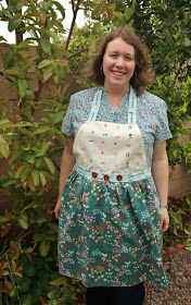 Today, we are ecstatic to welcome back Heidi of The Fabric Mutt . She is sharing an adorable Everyday Party  Apron tutorial with us, to ce...