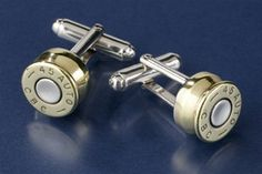 Bullet cuff links ...this made me laugh!!!!
