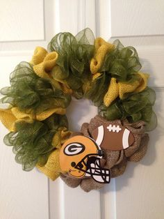 Green Bay Packers Wreath by AGWreaths on Etsy