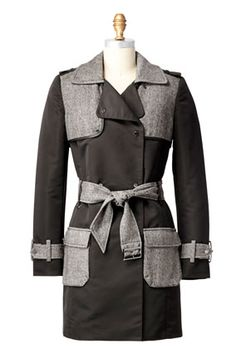 Dressy black and grey coat