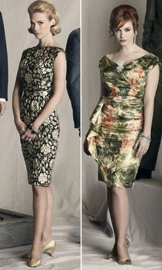 "January Jones and Christina Hendricks - I adore their style in ""Mad men""."