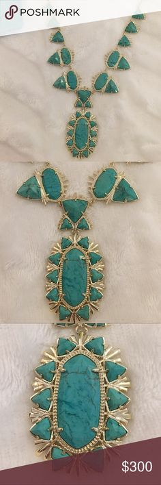 Kendra Scott turquoise Havana EUC KS turquoise Havana. Beautiful necklace. I only wore it twice. It's just been sitting in it's dust bag.  Reasonable offers may be considered.  Thank you 🌺 Kendra Scott Jewelry Necklaces