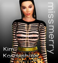 Sims 4 CC's - The Best: Kim Kardashian by Miss Merry The Sims