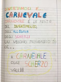 CARNEVALE | Blog di Maestra Mile Teaching Materials, Teaching Tools, Opening Day, Carnival, Bullet Journal, Education, School, Blog, Luigi