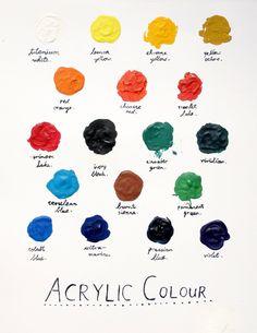 Paint palette graphic - colorful