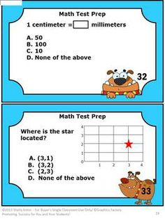40 Math Task Cards Grade 3 Test Prep - Here are 40 math task cards to help your students prepare for math tests. The questions focus on Common Core skills for students in 3rd grade. Please see the preview. A student response form and answer key are also provided.