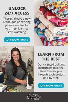 You're invited to become a National Quilters Circle Premium Member for only $2. Get 98% off access to hundreds of Premium Quilting Videos, expert tips, inspiration, & instruction. Quilting Tips, Quilting Tutorials, Quilting Projects, Art Projects, Sewing Projects, Project Steps, Easy Quilts, Holiday Tables, Youre Invited