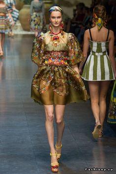 Dolce & Gabbana весна-лето 2013 / ткани dolce gabbana