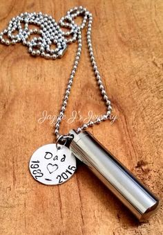 Personalized Cremation Urn Pendant-Stainless Steel Urn Necklace-Memorial Necklace-Remembrance Necklace-Cremation-Sympathy-Pet Urn for Ashes  The