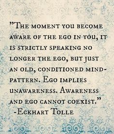 Ego Implies Unawareness, Awareness and Ego Cannot Coexist