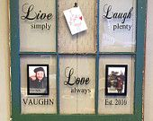 Vintage Window Two Pane Family Name by VaughnCustomCreation