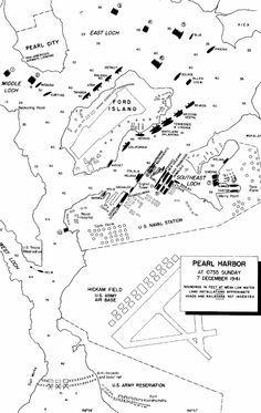 Map: PEARL HARBOR: 7 DECEMBER 1941