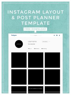 Instagram Layout & Post Planner Template. Free PSD Download.