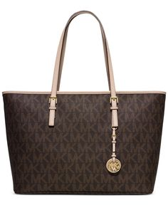 17ca82525913 MICHAEL Michael Kors Jet Set Travel Medium Top Zip Multifunction Tote -  Handbags Accessories - Macys