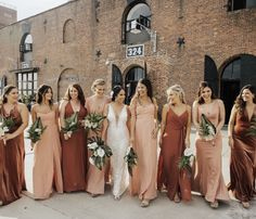 Jenny Yoo Online Store - Shop Wedding Dresses, Bridesmaids, Bridal Gowns, Robes, and Formal Guests Simply stunning hues of blush Mismatched Bridesmaid Dresses, Bridesmaids And Groomsmen, Wedding Bridesmaid Dresses, Wedding Attire, Winter Wedding Bridesmaids, Bohemian Bridesmaid, Tulle Wedding Gown, Bridesmaid Dress Colors, Wedding Bells