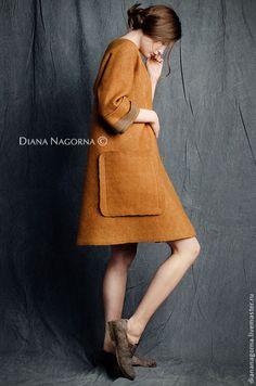 f95b610a0c1e Верхняя одежда ручной работы. Заказать Легкое пальто из мериносовой шерсти  и шелка. Диана Нагорная (diananagorna). Ярмарка Мастеров.