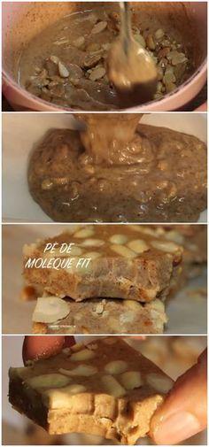 PÉ DE MOLEQUE FIT COM 4 INGREDIENTES #pédemoleque #fit #receita #gastronomia #culinaria #comida #delicia #receitafacil