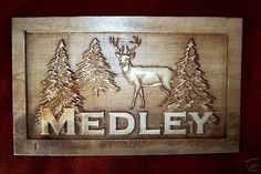 Personalized Sign Custom Carved Wood Wedding Gift Family Last Name Est Couples MAN CAVE Camp Wedding Cabin Hunt Deer RV Lake Plaque. $32.99, via Etsy.