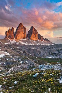 Tre Cime Sunset by Joerg Bonner Trentino Alto Adige