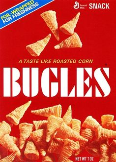 Classic Bugles Bugles today don't look much different than Bugles in 1979. Why mess with perfection, right?