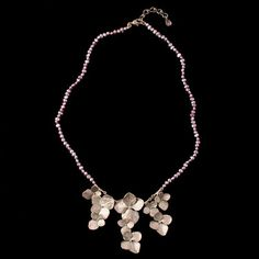 Michael Michaud Hydrangea Pearl Necklace