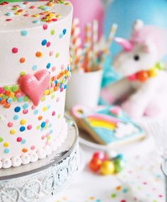 Magical Rainbow Unicorn Birthday Party- Maybe when she's older. :-)